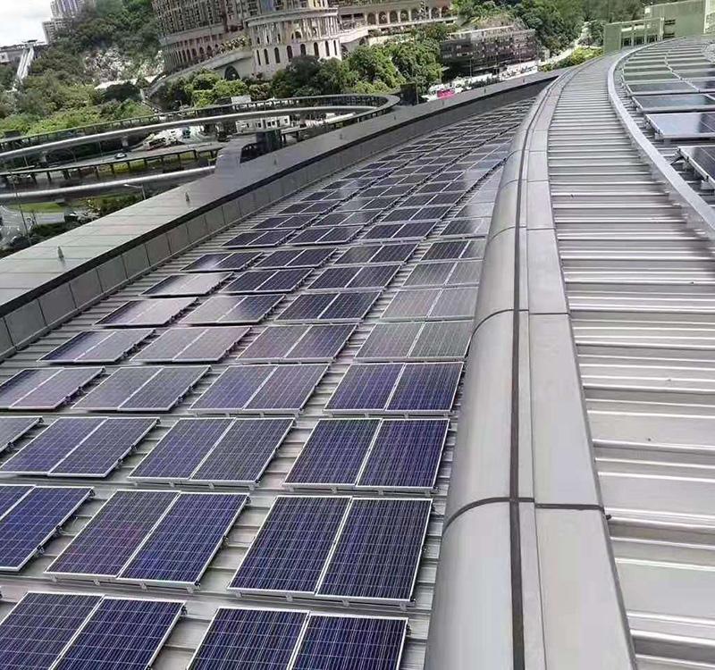 Roof solar installation
