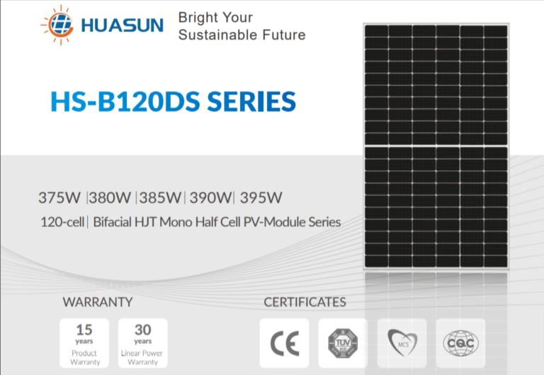 Huasun hjt solar panel datasheet